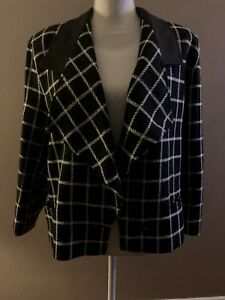 Genny Italy Wool Cashmere Blend Jacket Blazer US Size 8