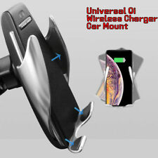 10W Rotate Automatic Clamping Wireless Fast Car Charger Air Vent Mount Holder