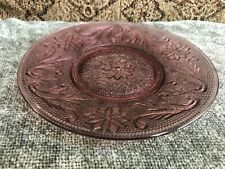 Vintage Indiana Purple Glass Sandwich Pattern 6 Inch Saucer Plate
