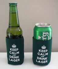 fun Beer/Lager Keep Calm & Drink Lager Bottle/Can Cooler BUY 2 GET 1 FREE!