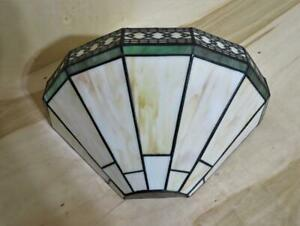 Spectrum Wall Sconce Stained Glass Shade Tiffany Deco Style Lamp Light Fixture