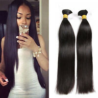 8A Brazilian Virgin Hair Silky Straight Bulk Human Hair For Braiding Extensions