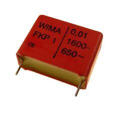 2 WIMA fkp1 POLIPROPILENE diapositive canalizzatore FKP 1 1600v 0,01uf 10% 22,5mm 003311