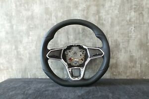 VW-8 ** VW GOLF 8 ORIGINAL Lederlenkrad 3 Speichen MFA Schaltwippen 5H0419089CK
