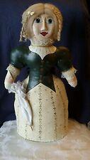 Vintage Mid 1900's Folk Art Victorian Doll / Door Stopper Handmade/Handpainted