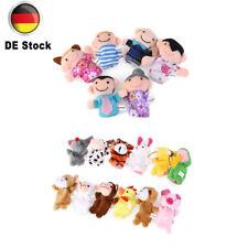 Neu 18 Stücks Fingerpuppen Handpuppen Baby Spielzeug Farm Tiere lehrreich DE