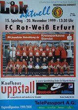 Programm 1999/00 FSV Lok Altmark Stendal - RW Erfurt