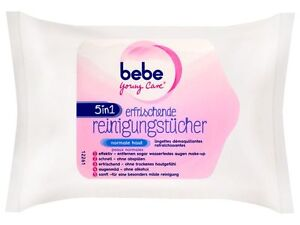2 Pack German bebe Young Care 5 in 1 normal skin Refreshing Eye and Face Wipes