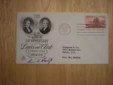 HAND SIGNED FDC 1954 LEWIS & CLARK -BY ANN BANCROFT-1ST WOMAN TO ARCTIC -COA