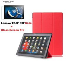 Tablethutbox Smart Cover Case for Lenovo Tab 3 10.1 Inch 16gb Tablet Tb-x103f Red