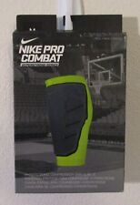 NWT Nike Pro Combat Hyperstrong Compression Shin Sleeve M Black MSRP$30