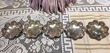 (5) Towle Sterling Silver Gold Wash Footed Beaded Nut Individual Dishes