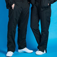 david luke technical 28 inch Microfibre flat front tracksuit trousers