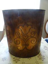 Pfaltzgraff Village Copper Waste Paper Basket Wastebasket Orig Box RARE!  USA