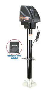 3500lbs Electric Power Tongue Jack for RV Trailer & Camper w/waterproof cover