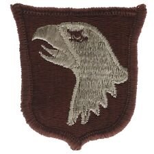 101st Airborne Desert Tan 2.25 Inch Cap Hat Embroidered Patch F1D22T
