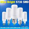 Ultra Bright 5730 SMD LED Corn Bulb Lamp Light Milky White 110V 220V E27 B22 G9