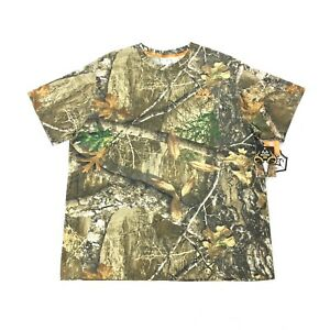 NEW RealTree Edge Mossy Oak Scent Factor Mens Size 2XL Camouflage Camo T-Shirt