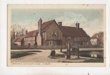 Stocks & Old Manor House Aldbury Hertfordshire Vintage Postcard G Loosley 504b