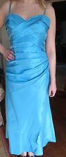 KELSEY ROSE EVENING PROM DRESS SIZE 16 BLUE SHOESTRING STRAPS OR STRAPLESS