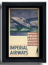 More details for imperial airways repro poster colgne budapest prague vienna de havilland 86 1935