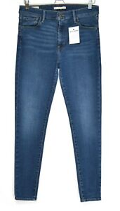 Womens Levis SUPER SKINNY 720 Dark Blue PREMIUM Stretch Jeans Size 14 W32 L30