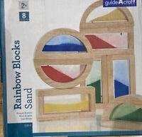 Guidecraft Rainbow Blocks-Sand Hardwood Frames,Educational Toy Visual Perception