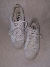Mens ADIDAS Sneakers SHELL TOE White Leather SIZE 10