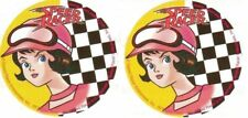 2 x Circle Stickers ~ Speed Racer Car Racing Party Favours Loot ~