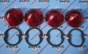 1953 Buick Special Super Roadmaster Tail Light Lens Set. Set of 4 with Gaskets