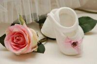 ♥ Mia ♥   Taufschuhe Babyschuhe  weiss-rosa