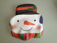 Dressing up mask Plastic 2 designs Jolly Santa and Snowman