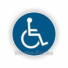 1 Aufkleber, Rollstuhl - Fahrer   10 cm  Rollstuhlfahrer