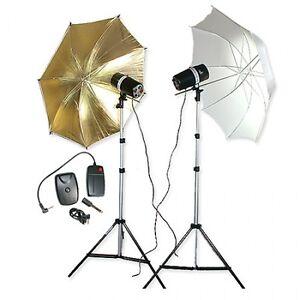 Fotostudio Blitz-Set Studioset Studioblitzanlage (2x160 WS) Studioblitzleuchte