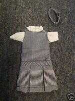 NIP 3 pc SCHOOL UNIFORM Dress Jumper Dress Outfit for Barbie doll PLAID #38
