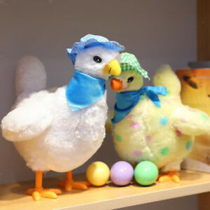 Cute Hen Laying Eggs Electric Plush Soft Stuffed Music Dancing Dolls Toys
