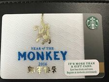 STARBUCKS Card 2016 Year of the Monkey - Free Shipping