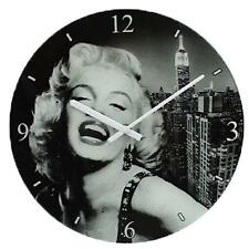 Icon Marilyn Monroe design Black & White Glass Wall Clock 30cm - Mothers day