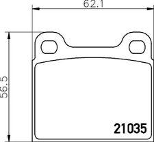 Hella Pagid Rear Brake Pads fits Mercedes W123 Class C123 230 CE