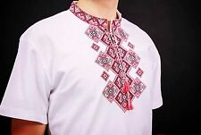 Ukrainian embroidered Men's T-Shirt, sorochka from Ukraine, vyshyvanka, Size M