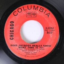 Rock 45 Chicago - Does Anybody Really Know What Time It Is? / Listen On Columb 3
