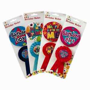 Birthday Boy Girl Unisex Badge and Rosette - 2 Piece
