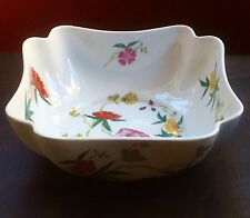 "RAYNAUD Limoges MIORAFLOR/DIORAFLOR 8"" square vegetable bowl - MINT"