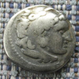 Greek Coin  ALEXANDER III (the Great) silver drachm