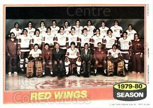 1980-81 Topps Team Posters #8 Detroit Red Wings