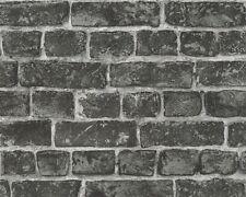Vliestapete Stein-Optik Ziegel AS Creation grau schwarz 30682-2 (2,96?/1qm)
