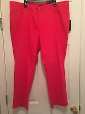 New! NYDJ Not Your Daughter Jeans Red Ankle Crop Stretch Jeans Plus Size 22W