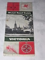 A Vintage 1960 Mobil (Pegasus) Petrol Bi Fold Road Map Guide of Victoria