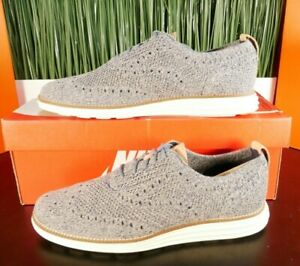 Cole Haan Original Grand Stitchlight Wingtip Oxford Grey White C31075 Size 9-12