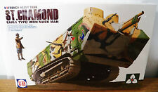 TAKOM WWI French St. Chamond Early Type Heavy Tank model kit w/ Figure 1/35